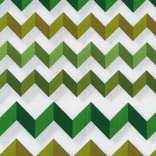 Andover - Crinkle Stripe - Green