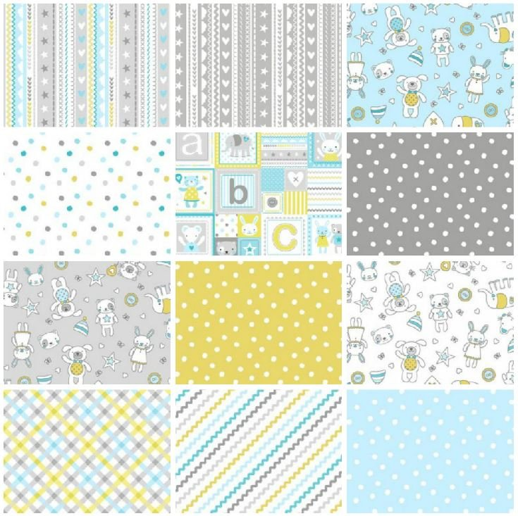 Tiny Tots - Blue - Half Yard Bundle
