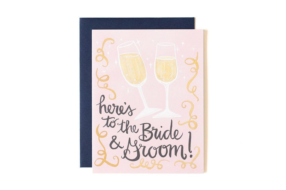 Card - Here's To Bride and Groom