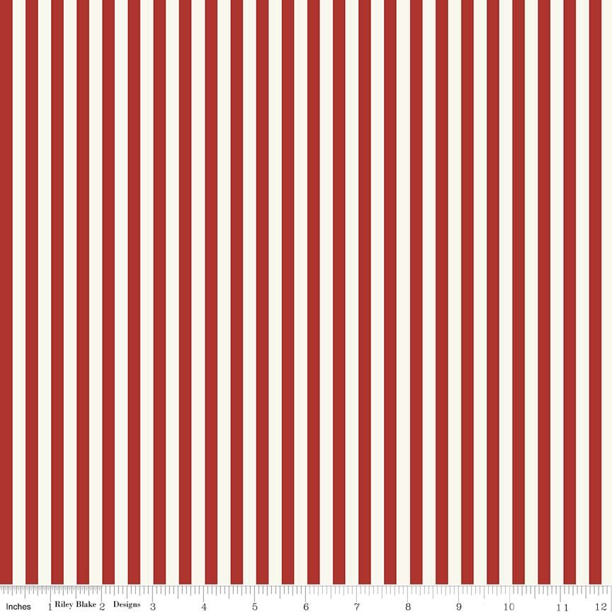 Lost and Found Americana - Stripe - Red