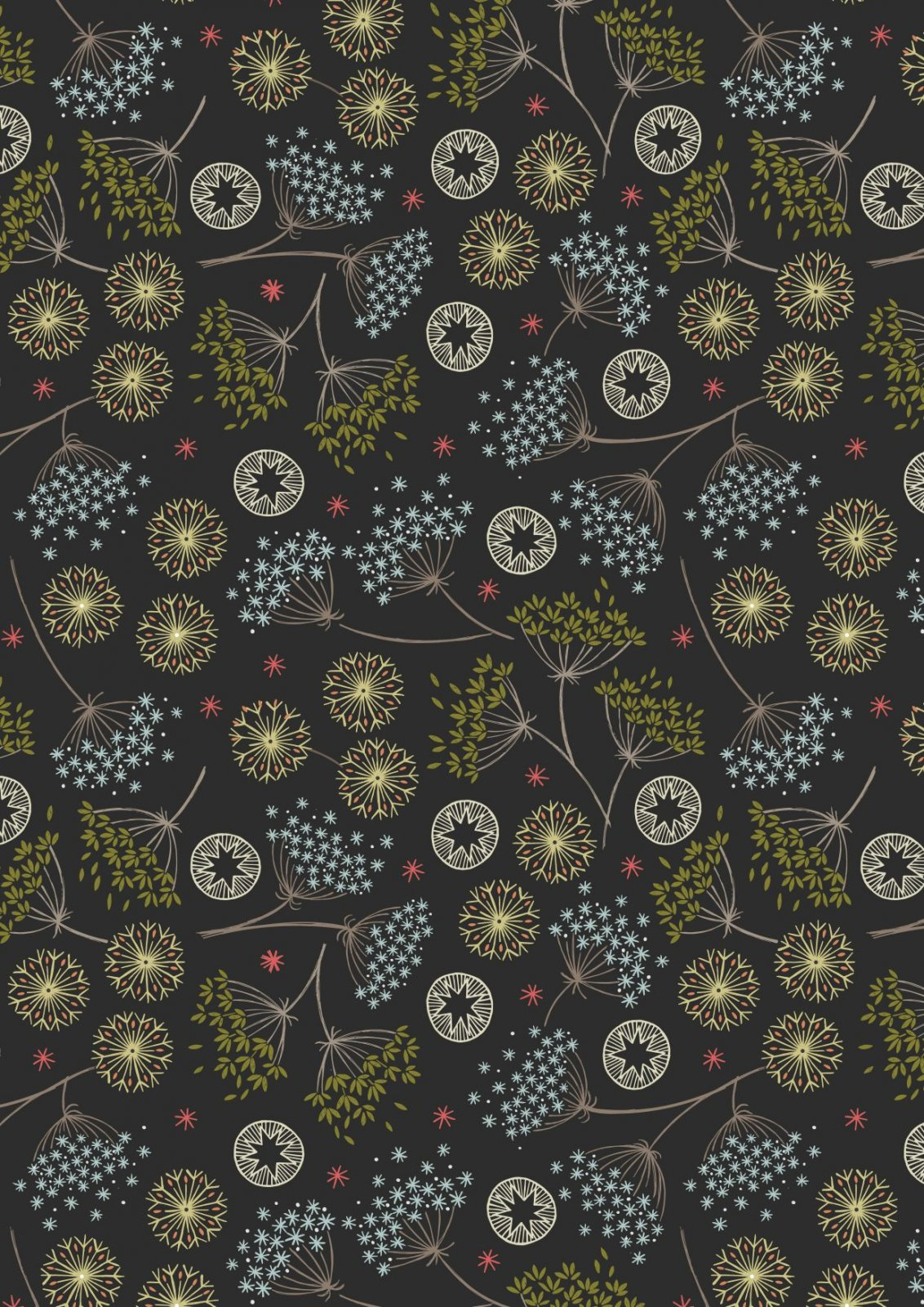New Forest Winter - Winter Floral - Black