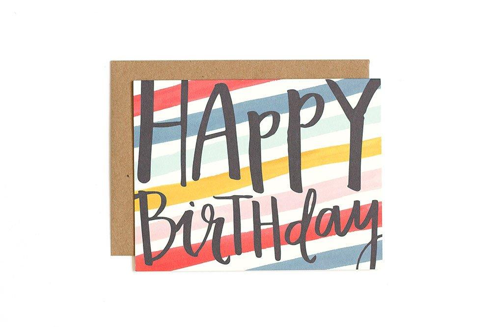 Card - Birthday Stripes