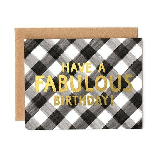 Card - Fabulous Gingham Birthday