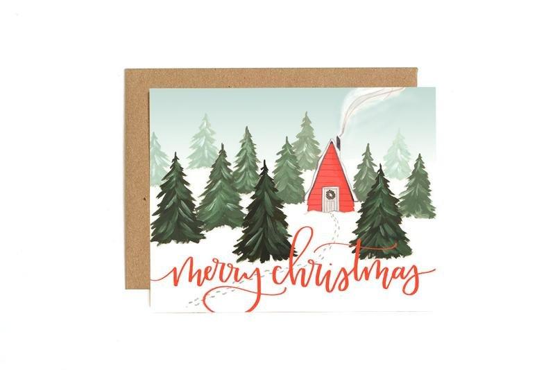 Card - Christmas Cabin