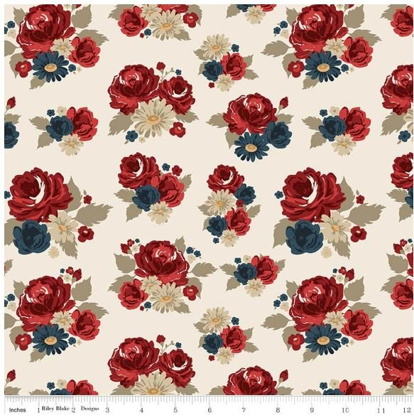 Penny Rose - American Heritage - Main Floral - Cream
