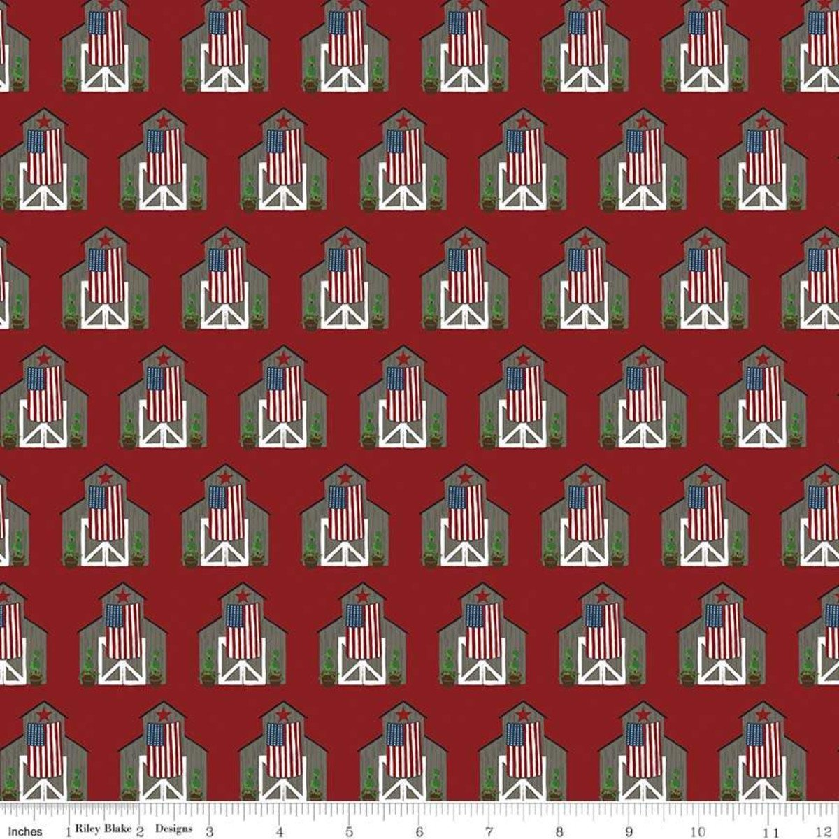Celebrate America - Barns - Red