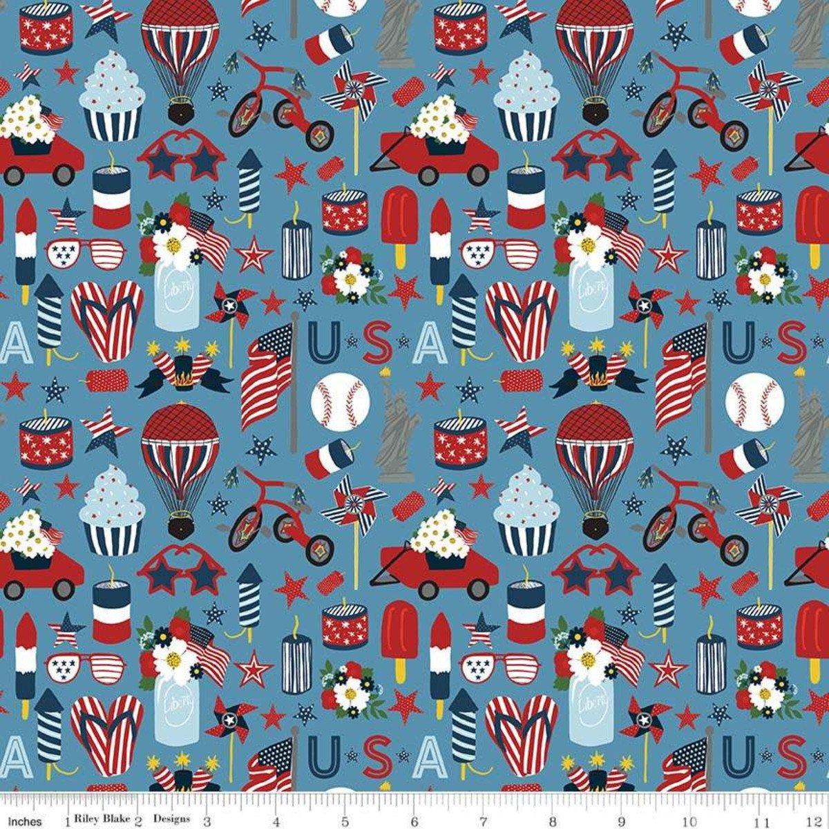 Celebrate America - Icons - Blue