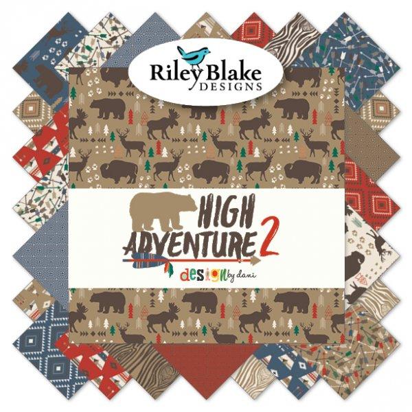 High Adventure 2 Layer Cake 10-7250-42 by Dani for Riley Blake 42-10x10 Cuts