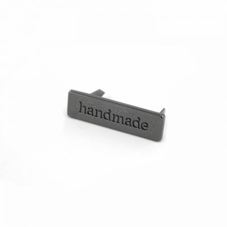 Handmade Bag Label - Gunmetal Finish