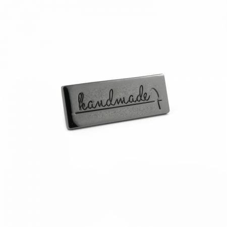 Handmade Bag Label - Gunmetal
