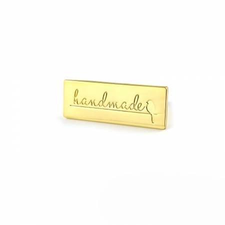 Handmade Bag Label - Gold