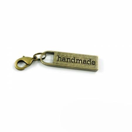Handmade Zipper Pull - Antique Brass