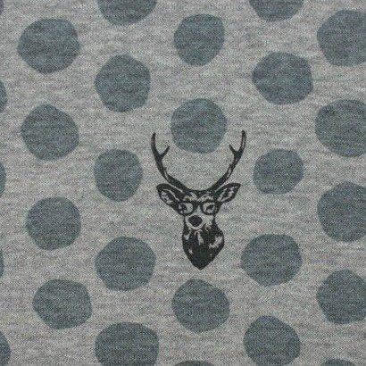 Kokka Knit - Deer - Grey