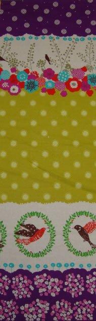 Echino - Flap - Purple & Mustard