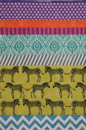 Echino - Zebra - Chartreuse