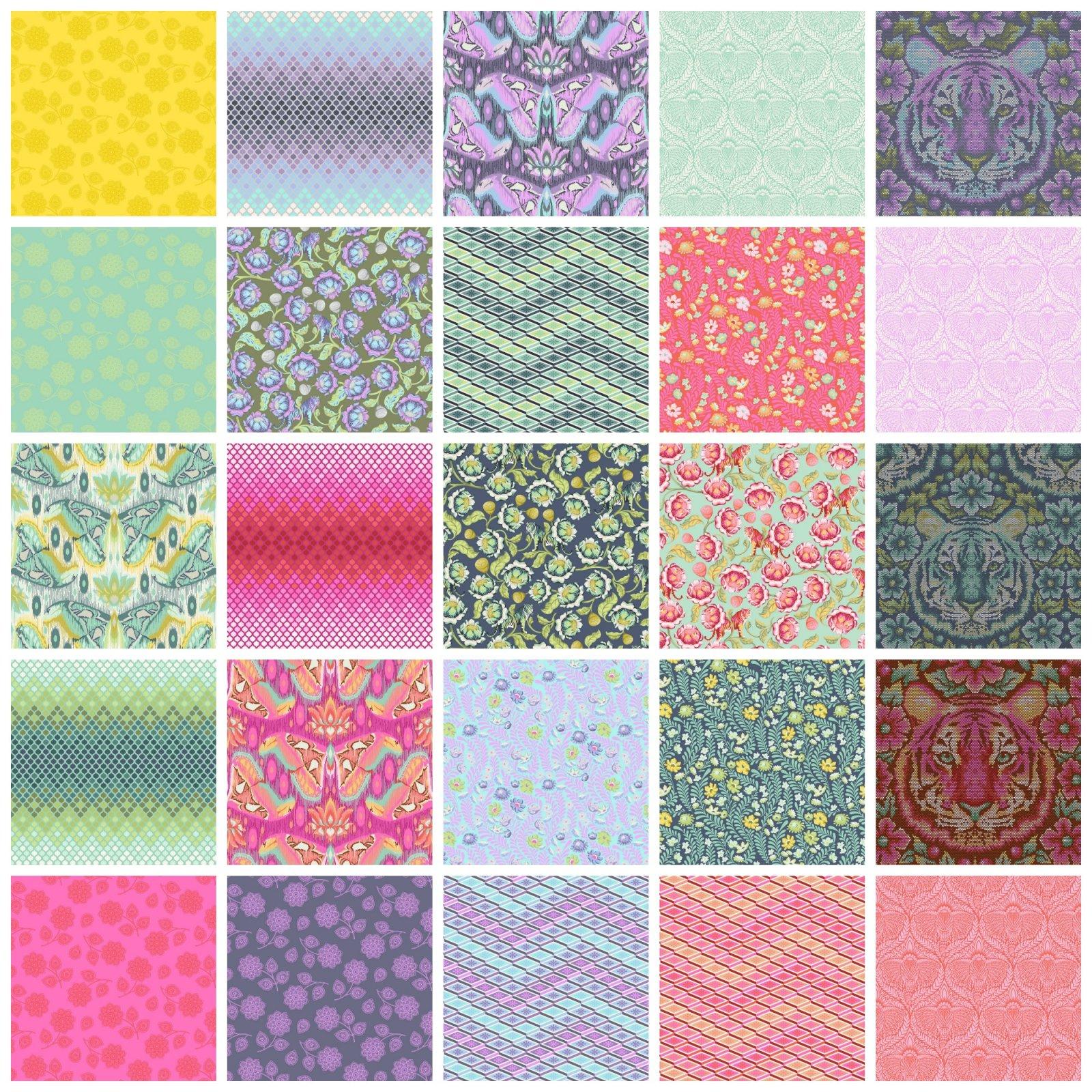 Tula Pink - Eden - 1/2 Yd Bundle - 25