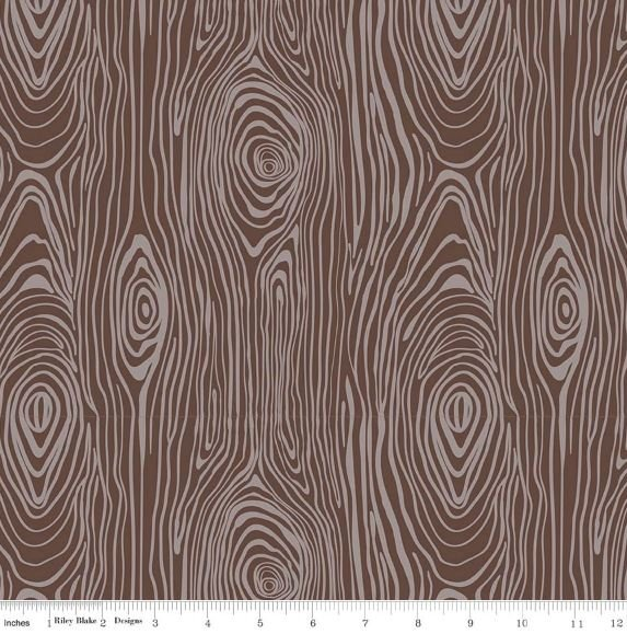 Riley Blake - Knock Wood - Brown