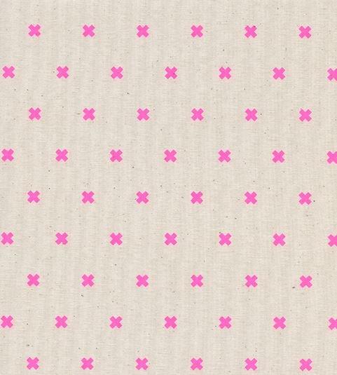 Cotton + Steel - Basics - XOXO - Flamingo