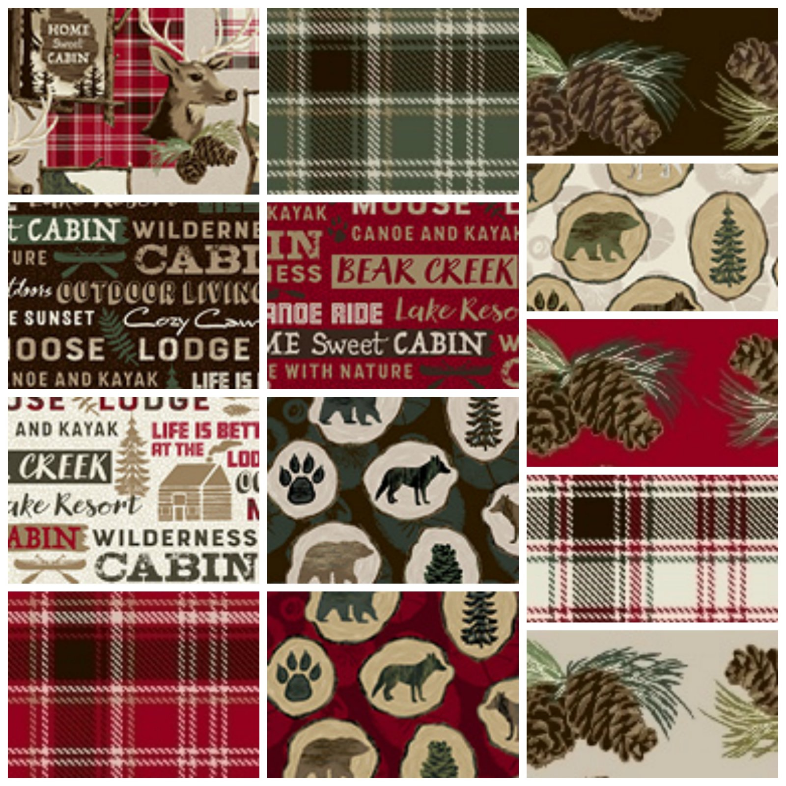 Home Sweet Cabin - Fat Quarter Bundle