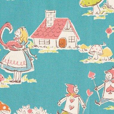 Kokka - Alice In Wonderland - Teal
