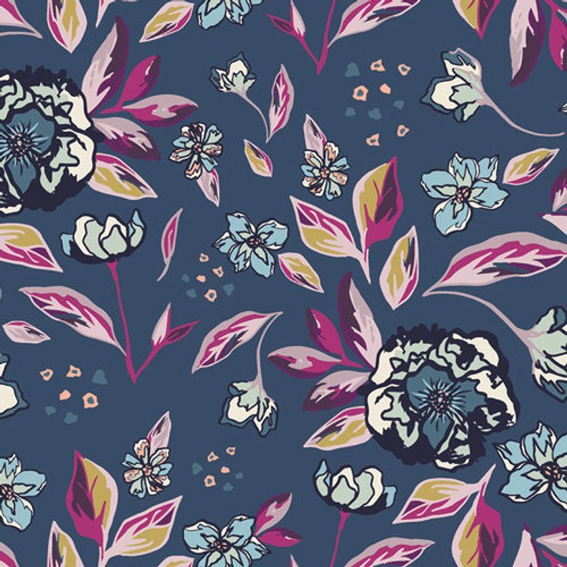 Mystical Land - Enchanted Flora - Blue
