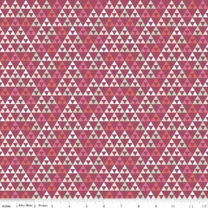 On Trend Knit - Triangle - Raspberry