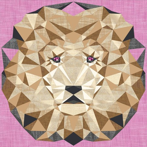 Metallic Lion Abstractions Quilt Kit