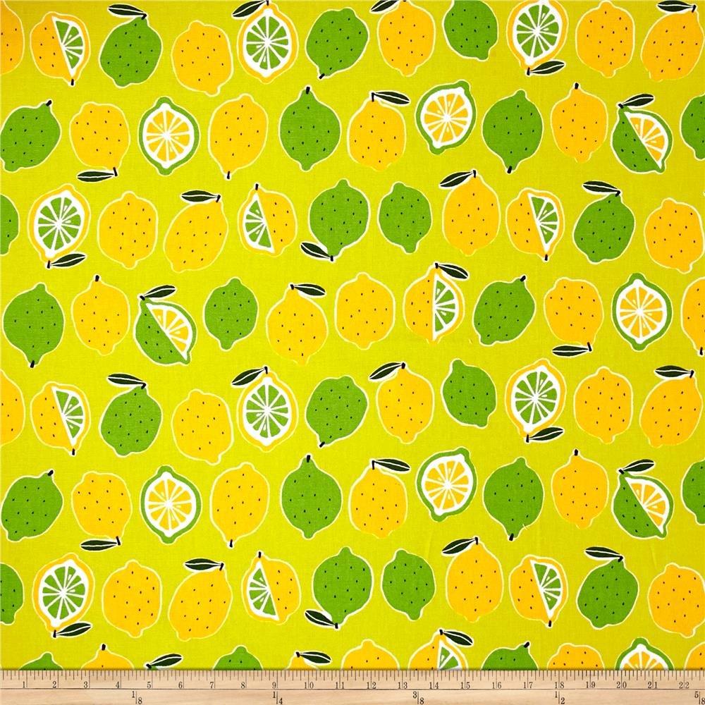 Kokka - Lemons and Limes cotton canvas