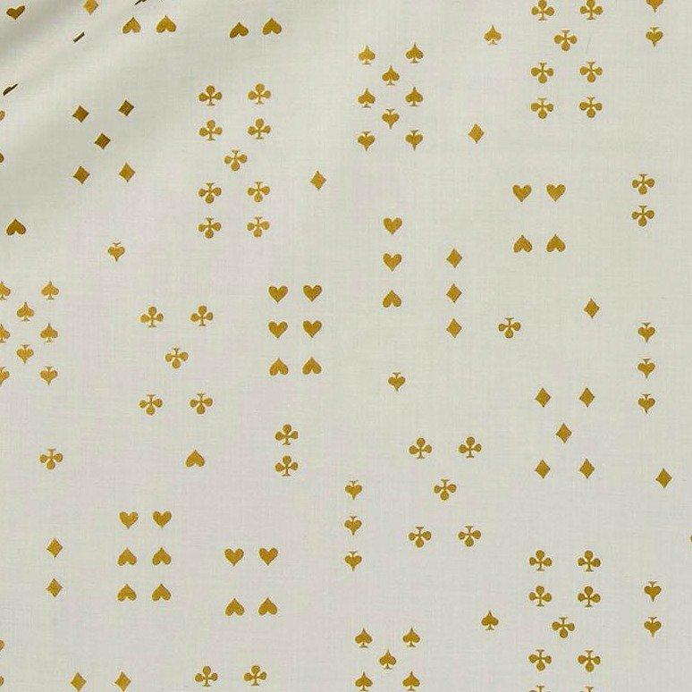 Rifle Paper Co. - Wonderland Lawn - Follow Suit - Cream Metallic