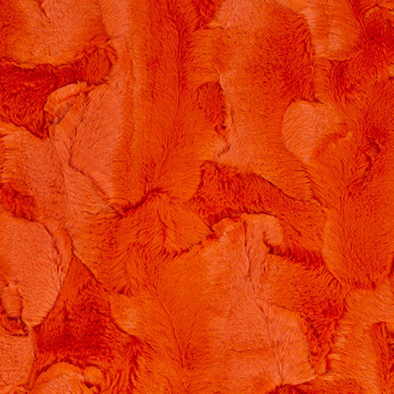 Luxe Cuddle Hide Embossed - Mandarin
