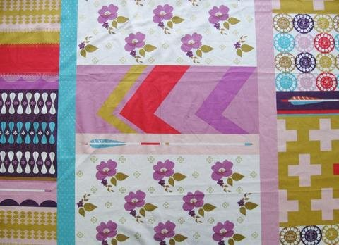 Melody Miller - Ruby Star Polka Dot - Patchwork - Purple