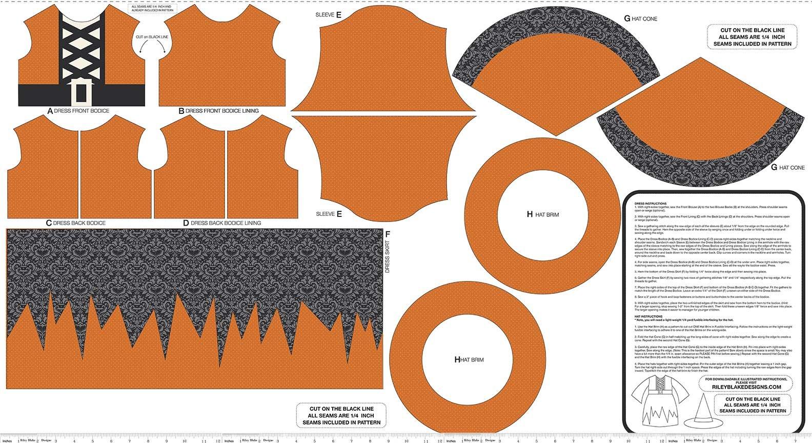 Eek Boo Shriek - Panel - Orange
