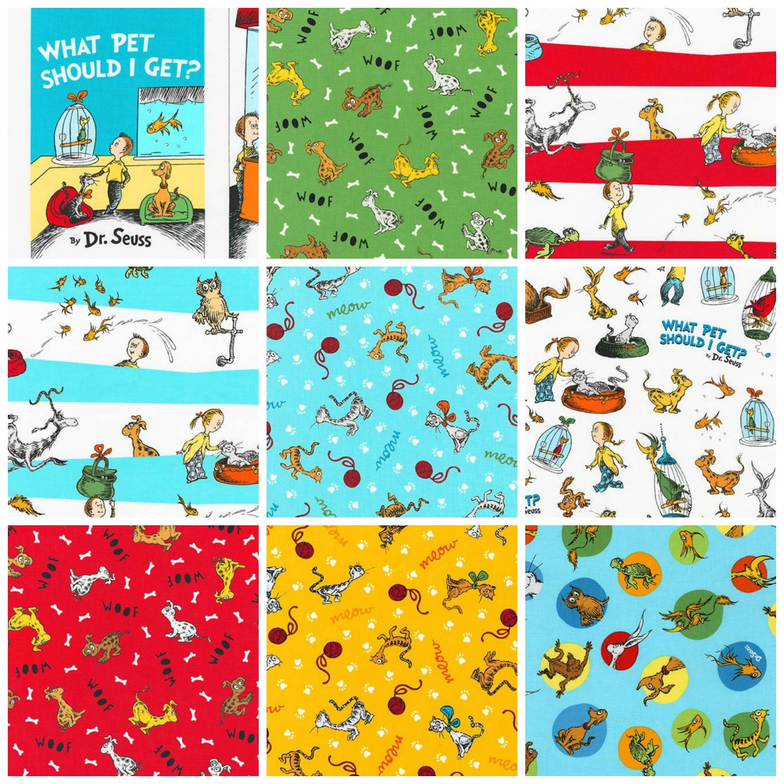 What Pet Should I Get? - Fat Quarter Bundle