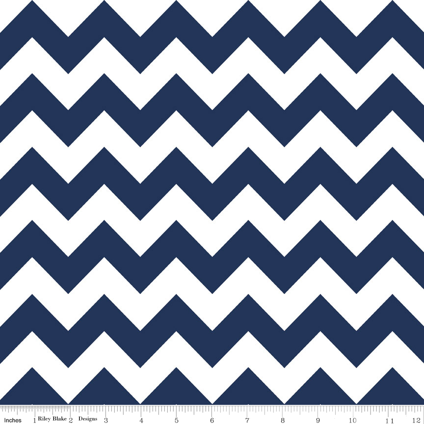 Riley Blake Designs - Widebacks - Navy