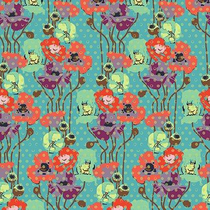 Floral Retrospective - Raindrop Poppies - Candy