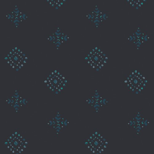 Aquarelle - Rayon - Rhombastic Negative
