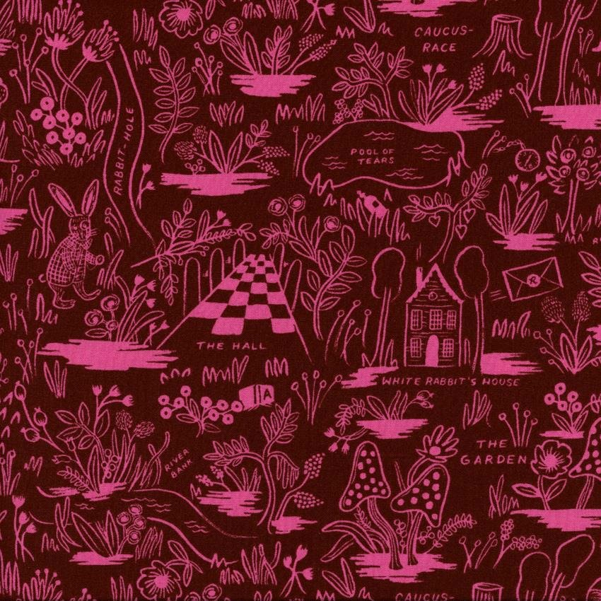 Rifle Paper Co. - Wonderland Rayon - Magic Forest - Ruby