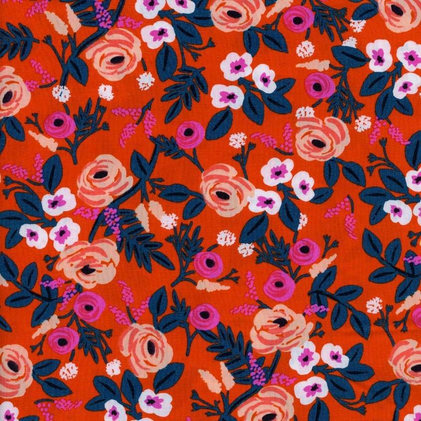 Rifle Paper Co. - Wonderland Rayon - Paint Roses - Orange