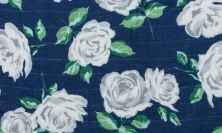 Shannon - Embrace Gauze - Rose Garden - Navy