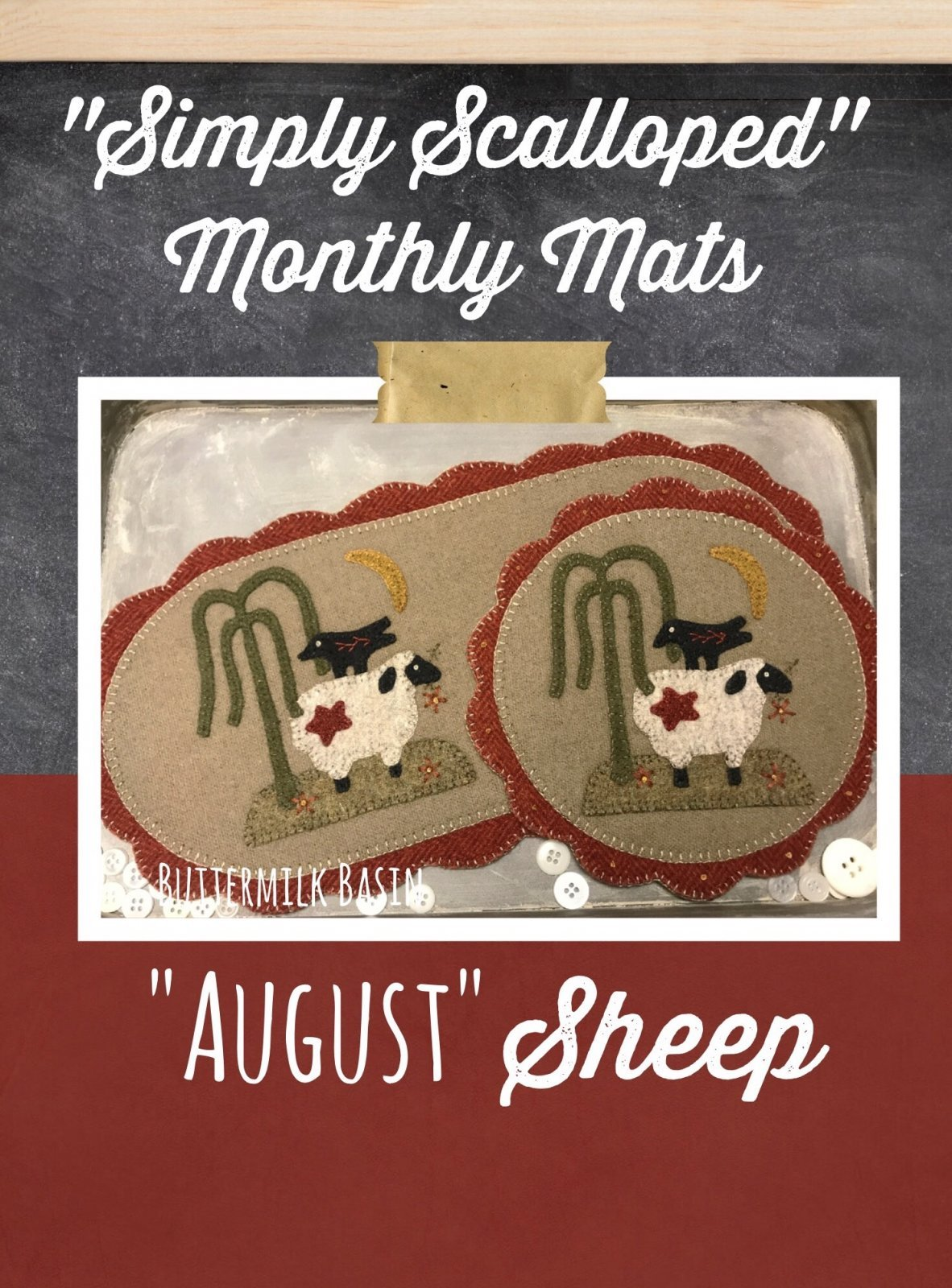 Simply Scalloped - August Sheep