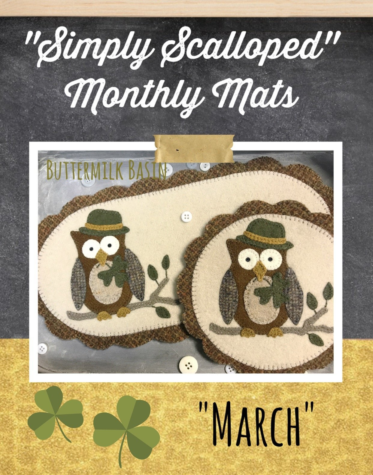 Simply Scalloped - March Owls