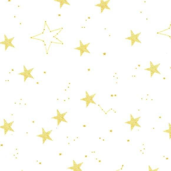 Minky - Lucky Stars - White