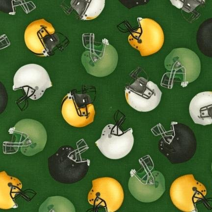 Robert Kaufman - Sports Life 3 - Green Helmets