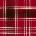 Home Sweet Cabin - Plaid - Red