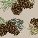 Home Sweet Cabin - Pinecones - Cream