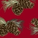 Home Sweet Cabin - Pinecones - Red
