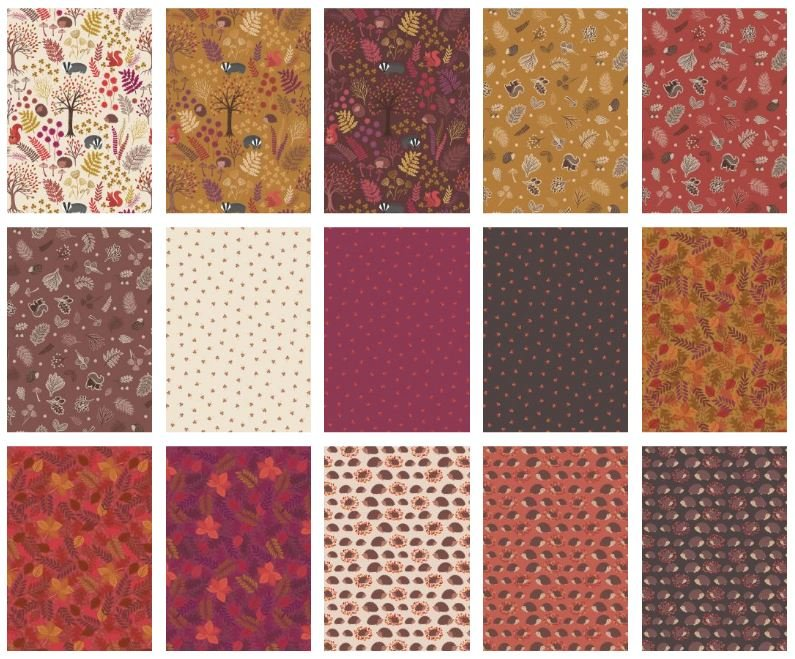 Under the Oak Trees Fat Quarter Bundle
