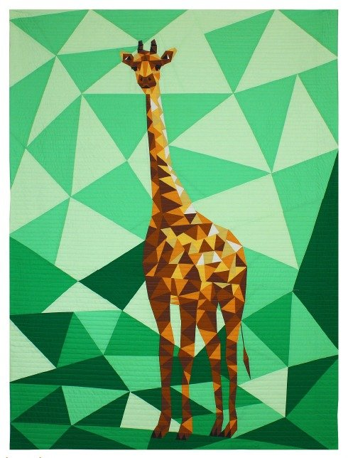 Giraffe Abstractions Quilt Top Kit