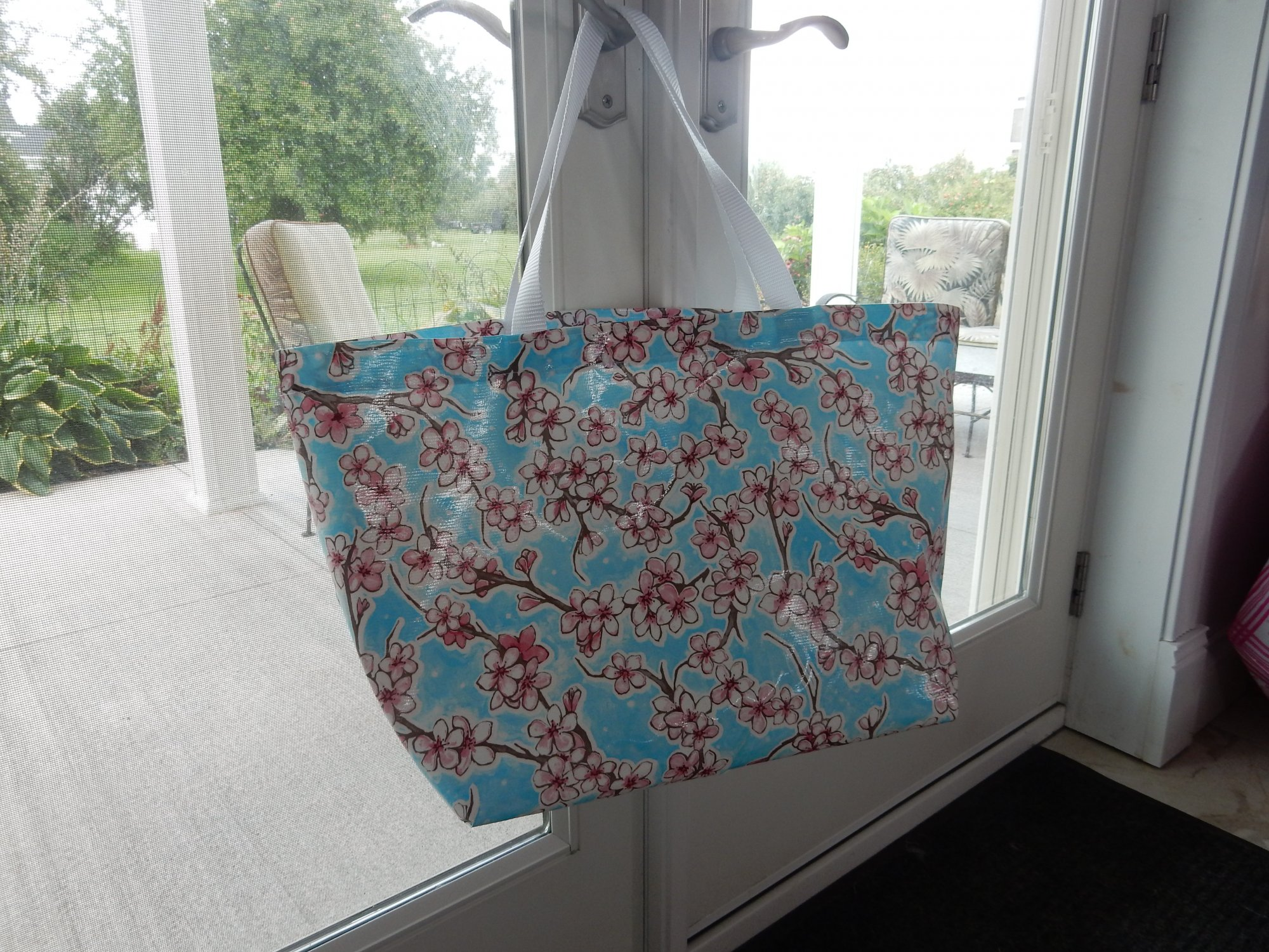 Tote Bag Kit Cherry Blossoms - Blue