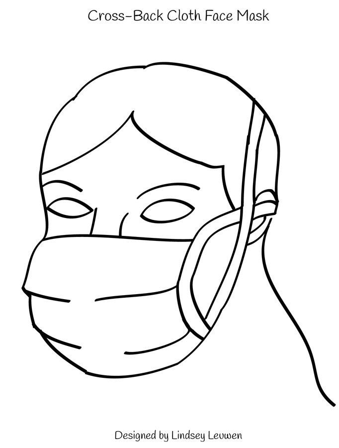 Cross Back Cloth Mask